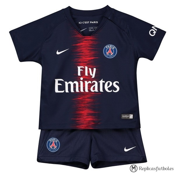 Camiseta Paris Saint Germain Primera Niños 2018/2019 Azul Replicas Futbol