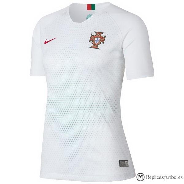 Camiseta Seleccion Portugal Segunda Mujer 2018 Blanco Replicas Futbol da173e7505eaa
