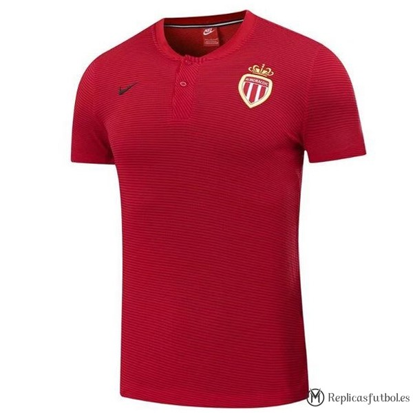 Polo AS Monaco 2017/2018 Rojo Replicas Futbol