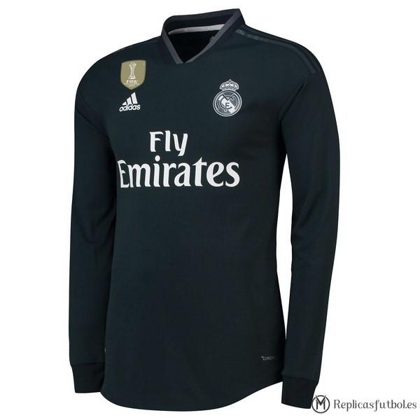 d23a8a3b001f4 Camiseta Real Madrid Segunda ML 2018 2019 Negro Replicas Futbol
