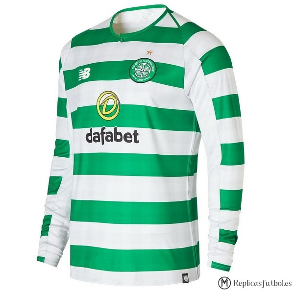 Camiseta Celtic Primera ML 2018/2019 Verde Replicas Futbol