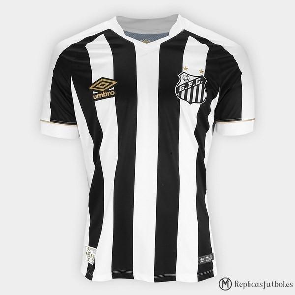 Camiseta Santos Segunda 2018 2019 Negro Blanco Replicas Futbol 0d6ed8a0b1f73
