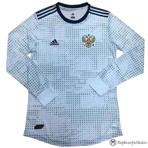 Camiseta Seleccion Rusia Segunda ML 2018 Blanco Replicas Futbol