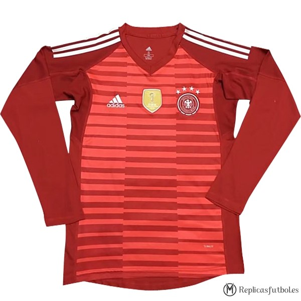 Camiseta Seleccion Alemania ML Portero 2018 Rojo Replicas Futbol