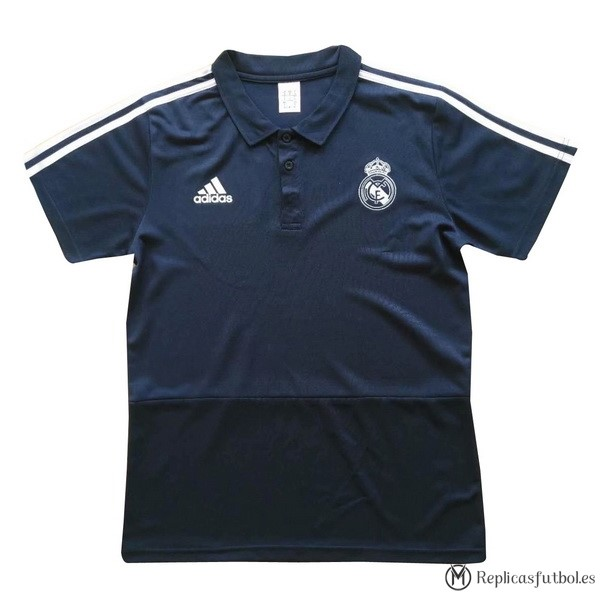 Polo Real Madrid 2017/2018 Azul Blanco Replicas Futbol