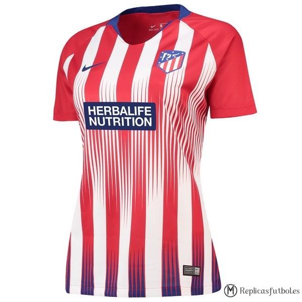 Camiseta Atlético de Madrid Primera Mujer 2018 2019 Rojo Replicas Futbol 08e5122d4dc8e