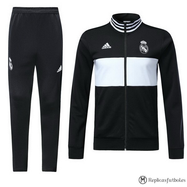 Chandal Real Madrid 2018/2019 Negro Blanco Replicas Futbol
