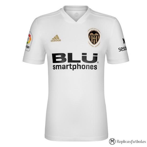 Camiseta Valencia Primera 2018 2019 Blanco Replicas Futbol 7aa1a0511257e