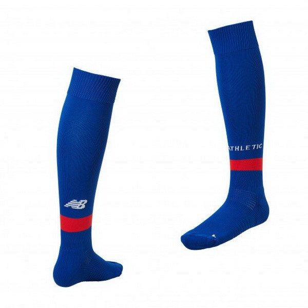 Calcetines Athletic Bilbao Segunda 2018/2019 Azul Replicas Futbol