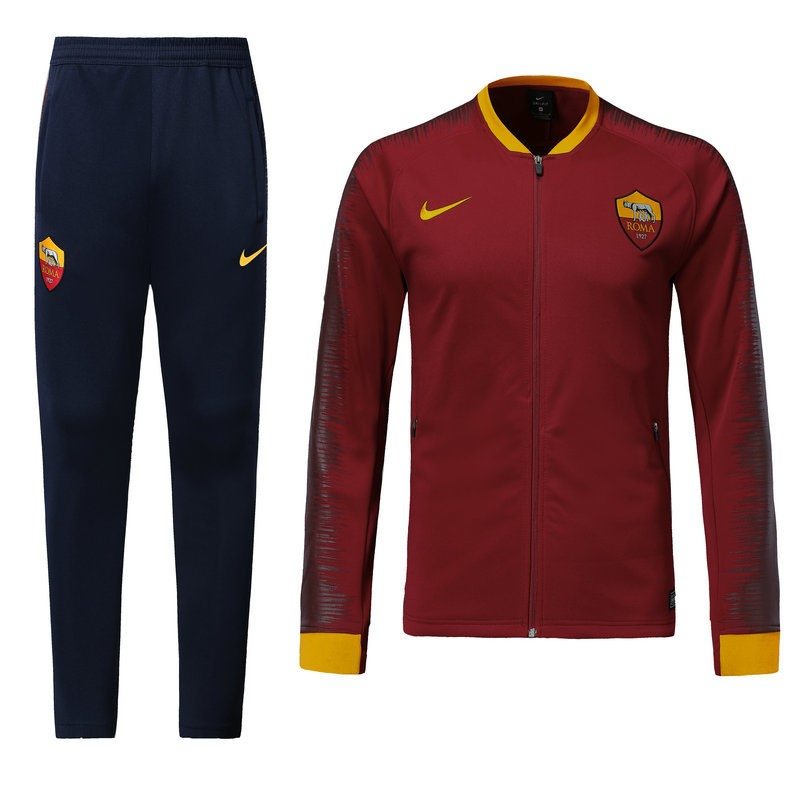 Chandal AS Roma 2018/2019 Rojo Marino Replicas Futbol