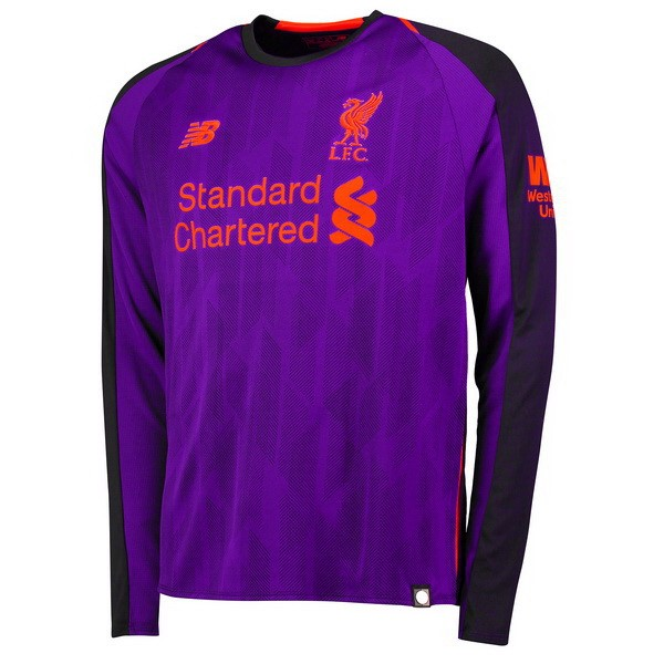 Camiseta Liverpool Segunda ML 2018/2019 Purpura Replicas Futbol