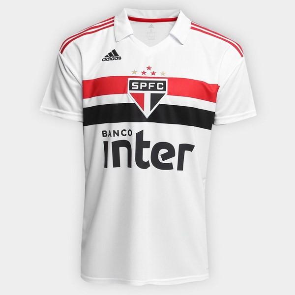 Camiseta São Paulo Primera 2018 2019 Blanco Replicas Futbol 99f3268429d5b