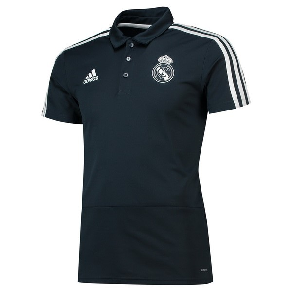 Polo Real Madrid 2018/2019 Negro Replicas Futbol