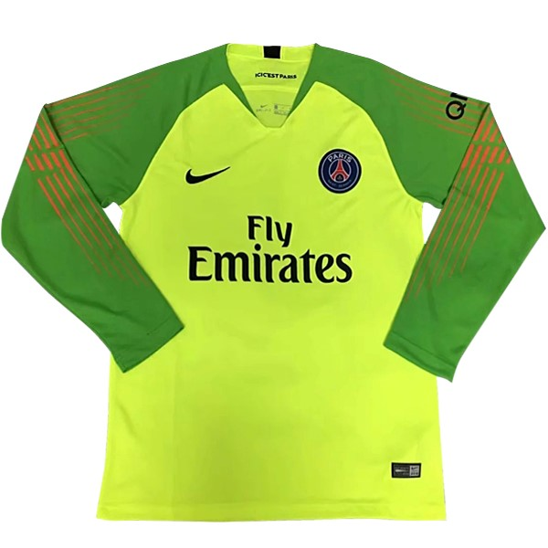 Camiseta Paris Saint Germain ML Portero 2018/2019 Verde Replicas Futbol