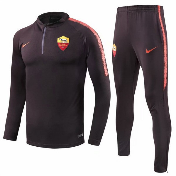 Chandal AS Roma 2018/2019 Naranja Negro Replicas Futbol