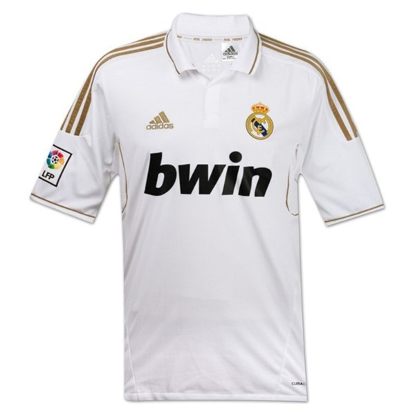 Camiseta Real Madrid Primera Retro 2011/12 Blanco Replicas Futbol