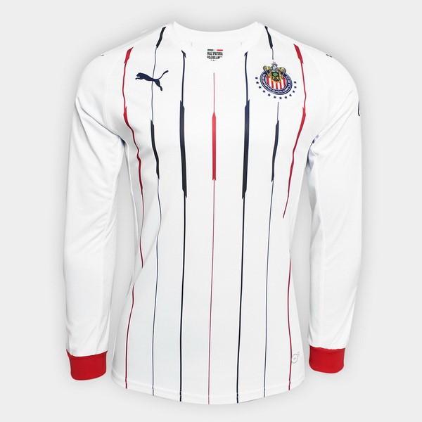 4df8d0e18a Camiseta CD Guadalajara Segunda ML 2018 2019 Blanco Replicas Futbol