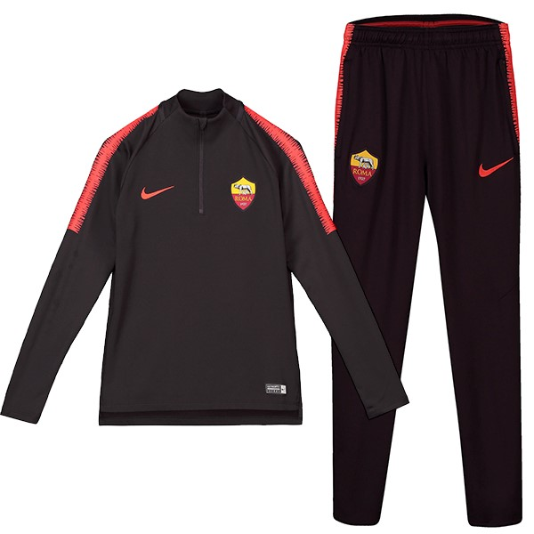 Chandal Niños AS Roma 2018/2019 Negro Replicas Futbol