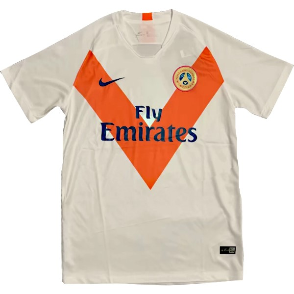 Entrenamiento Paris Saint Germain 2018/2019 Blanco Naranja Replicas Futbol