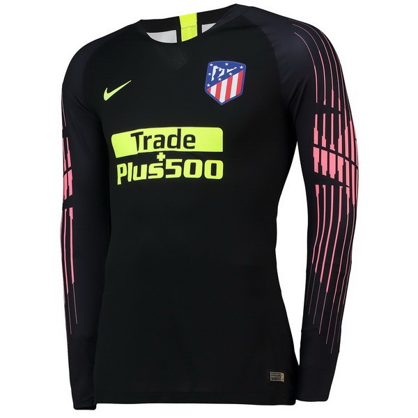 Camiseta Atletico Madrid ML Portero 2018/2019 Negro Replicas Futbol