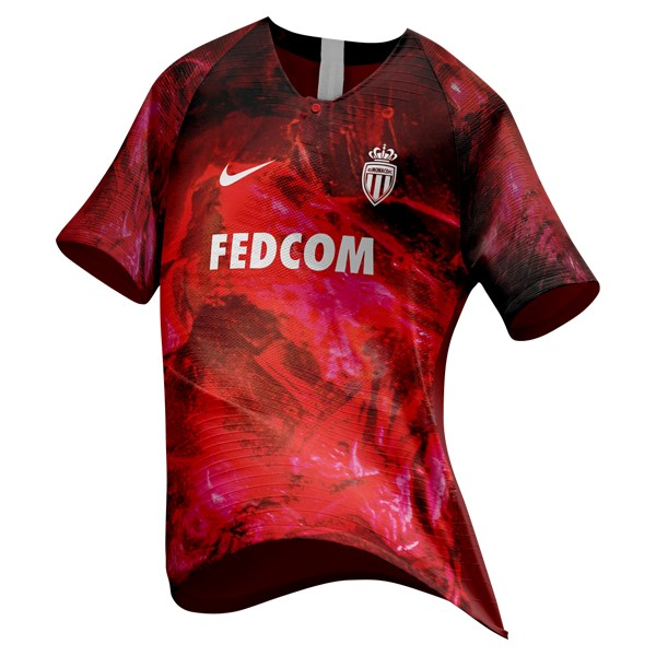 EA Sport Camiseta AS Monaco 2018/2019 Rojo Replicas Futbol