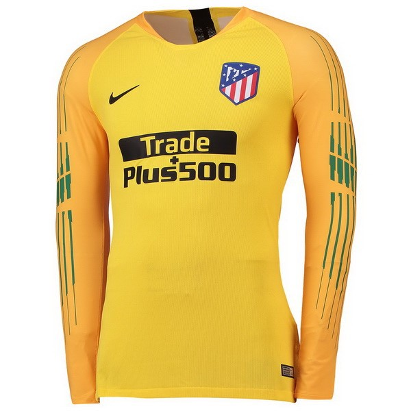 Camiseta Atletico Madrid ML Portero 2018/2019 Amarillo Replicas Futbol