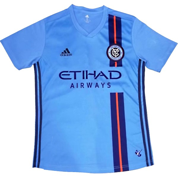 Camiseta New York City Primera 2019/2020 Azul Replicas Futbol