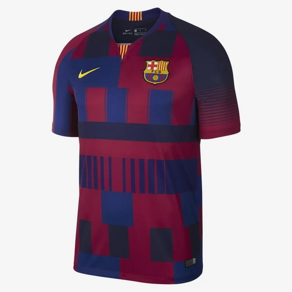 Camiseta Barcelona 20th Azul Rojo Replicas Futbol