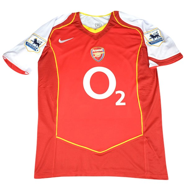 Camiseta Arsenal Primera Retro 2004/05 Rojo Replicas Futbol