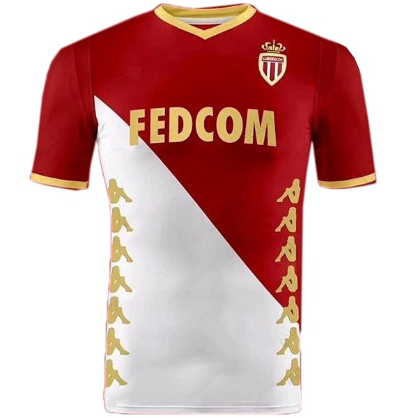 Camiseta AS Monaco Primera 2019/2020 Rojo Blanco Replicas Futbol