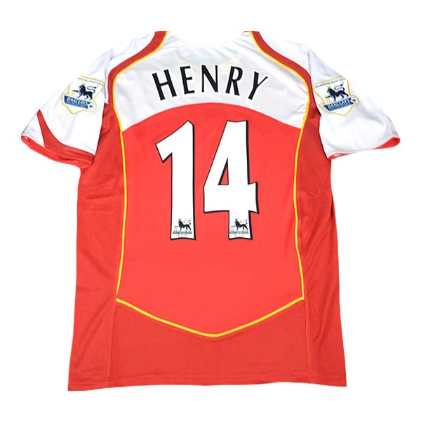 Camiseta Arsenal Henry Primera NO.14 Retro 2004/05 Rojo Replicas Futbol