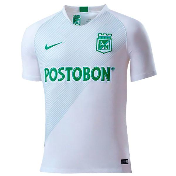 7947baf93f63e Camiseta Atlético Nacional Segunda 2019 2020 Blanco Replicas Futbol