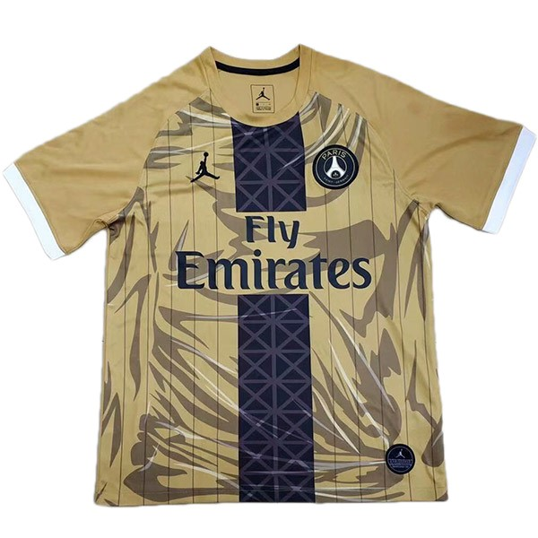 Camiseta Paris Saint Germain JORDAN Especial 2019/2020 Amarillo Replicas Futbol