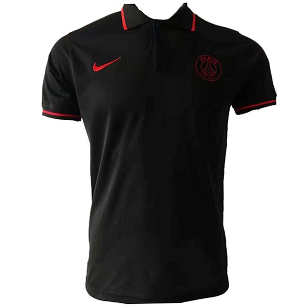 Polo Paris Saint Germain 2019/2020 Negro Rojo Replicas Futbol