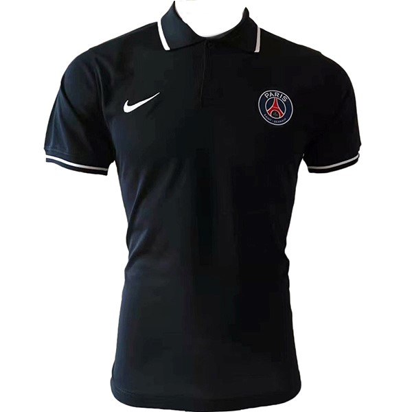 Polo Paris Saint Germain 2019/2020 Negro Blanco Replicas Futbol