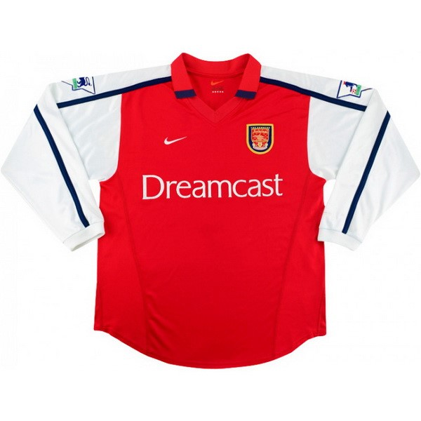 Camiseta Arsenal Primera ML Retro 2000 Rojo Replicas Futbol