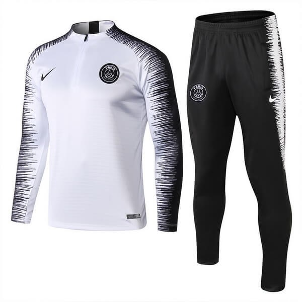 Chandal Paris Saint Germain 2018/2019 Blanco Negro Replicas Futbol