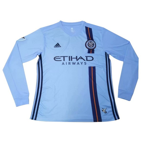 Camiseta New York City Primera ML 2019/2020 Azul Replicas Futbol