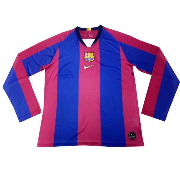 Camiseta Barcelona ML 120th Azul Rojo Replicas Futbol