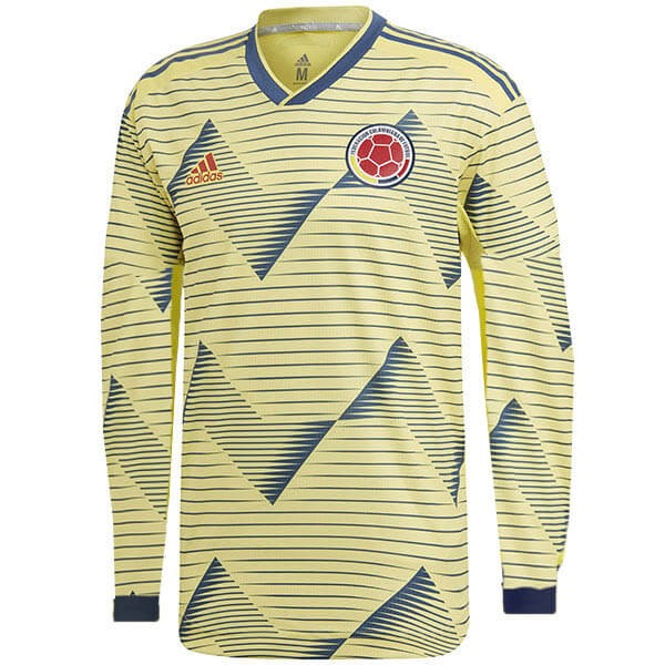 Camiseta Colombia Primera ML 2019 Amarillo Replicas Futbol