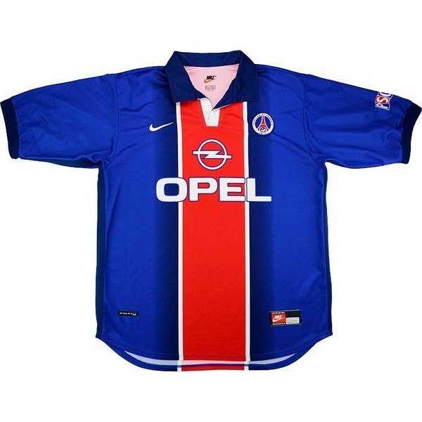 Camiseta Paris Saint Germain Primera Retro 1998 1999 Azul Replicas Futbol