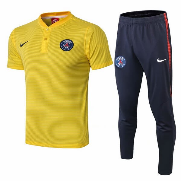 Polo Conjunto Completo Paris Saint Germain 2018/2019 Amarillo Replicas Futbol