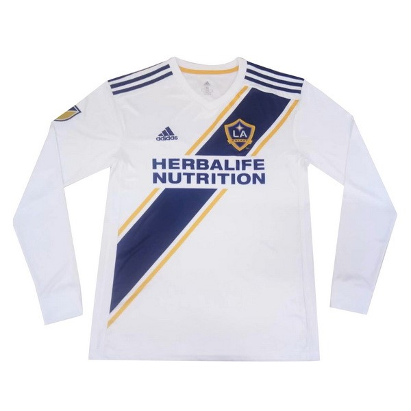 Camiseta Los Angeles Galaxy Primera ML 2019/2020 Blanco Replicas Futbol