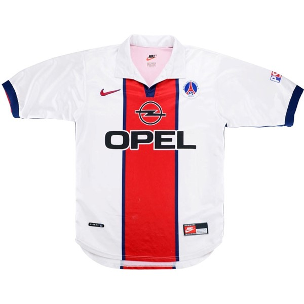 Camiseta Paris Saint Germain Segunda Retro 1998 1999 Blanco Replicas Futbol