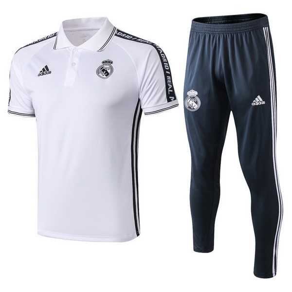 Polo Conjunto Completo Real Madrid 2019/2020 Blanco Replicas Futbol