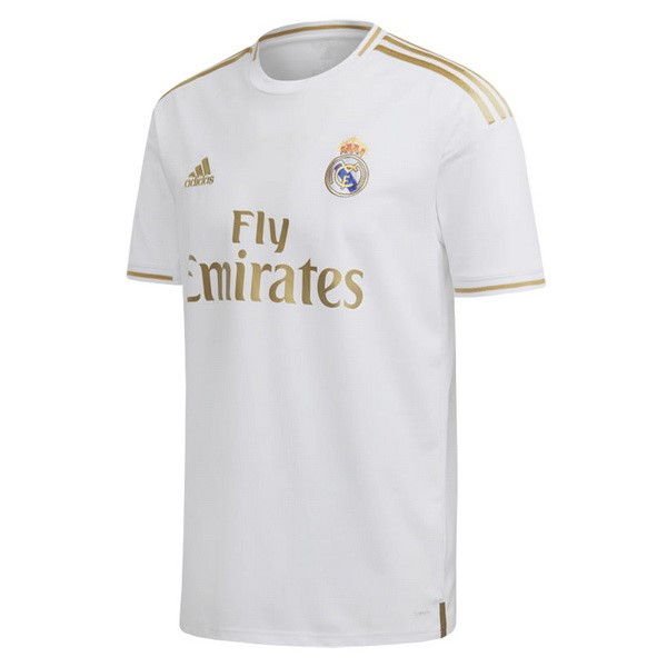 87507d5b Tailandia Camiseta Real Madrid Primera 2019/2020 Blanco Replicas Futbol