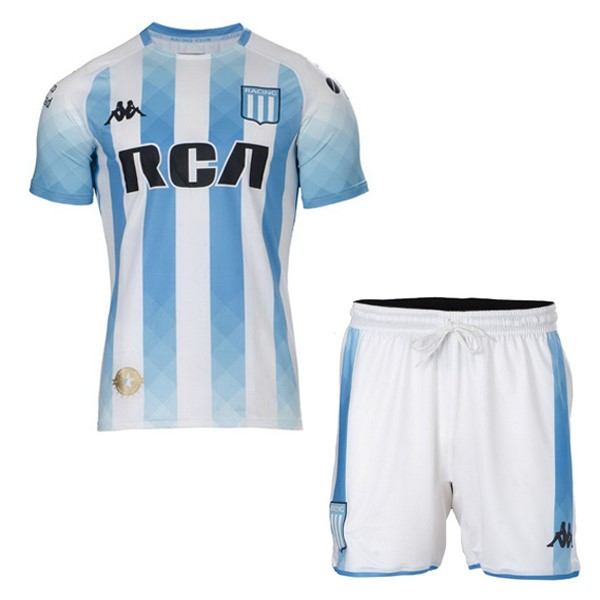 Camiseta Racing Club Primera Niño 2019/2020 Blanco Replicas Futbol