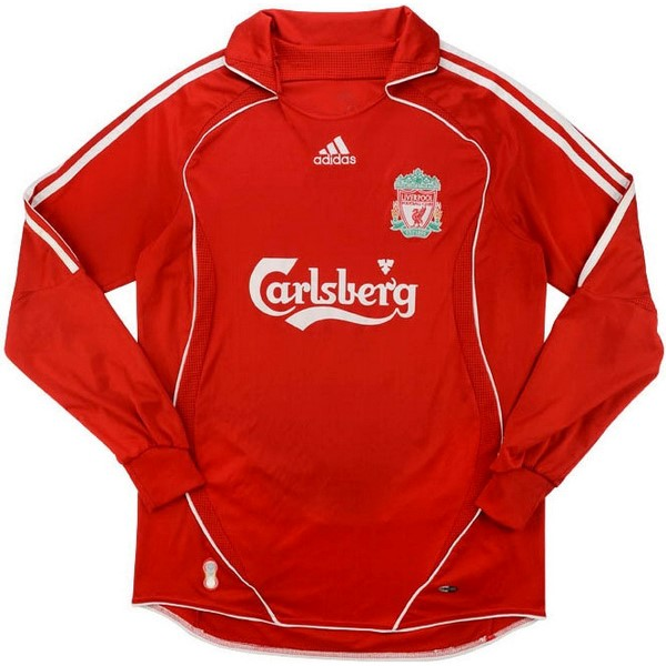 Camiseta Liverpool Primera ML Retro 2006 2007 Rojo