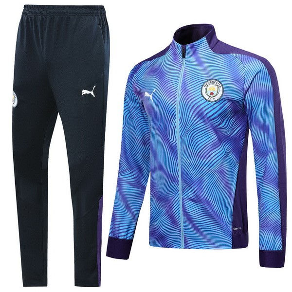 Chandal Futbol Manchester City 2019/2020 Purpura Azul Replicas Futbol