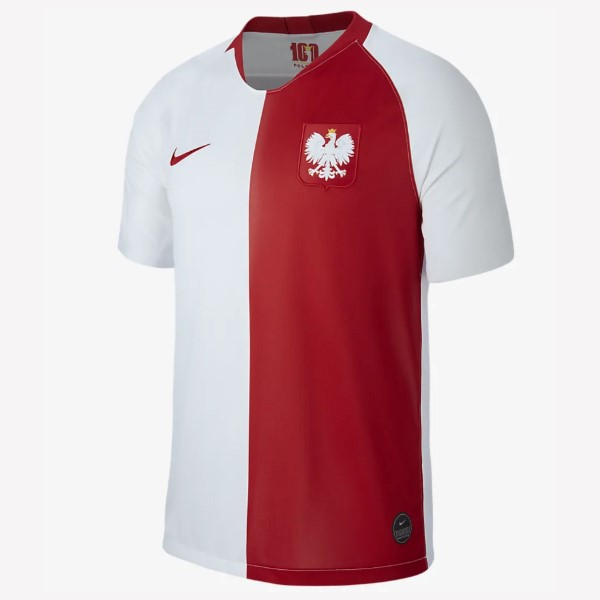 Camiseta Polonia 100th Blanco Rojo Replicas Futbol